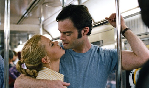 """HANDOUT IMAGE: Amy (AMY SCHUMER) gets closer to Aaron (BILL HADER) in """"Trainwreck"""", the new comedy from director/producer Judd Apatow that is written by and stars Schumer as a woman who lives her life without apologies, even when maybe she should apologize. Copyright: © 2015 Universal Studios. ALL RIGHTS RESERVED. Photo Credit: Universal Pictures"""