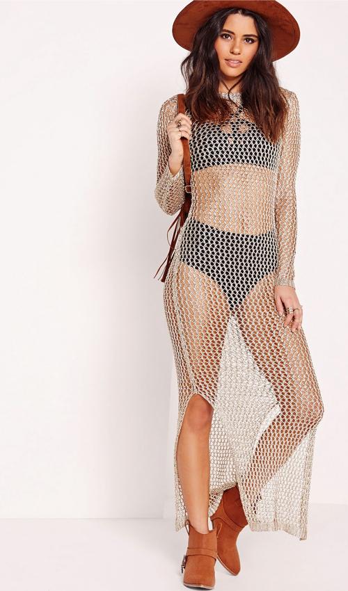 open knit dress