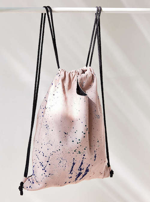 We Love This Gym Bag Because It Small And Simple But Just As Cute Grab Splattered Paint Convertible Drawstring Take From