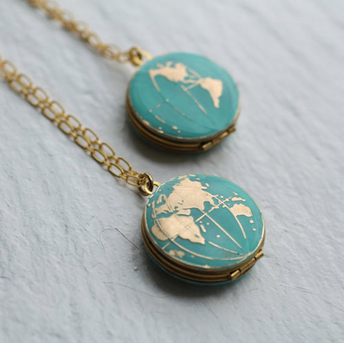 Chic lockets you can find on etsy fabfitfun silkpursesowsear world map locket 3794 perfect for adventurers this map locket is a beautiful piece for world travelers or those who are dreaming of gumiabroncs Image collections