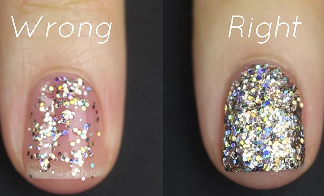 You Ve Been Putting Glitter Nail Polish On Wrong