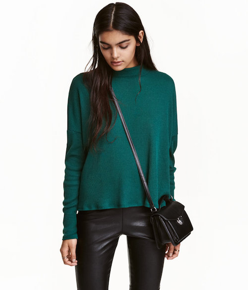 H M Ribbed Mock-Turtleneck Sweater  9.99. Add a touch of color into your  wardrobe this season with one of our favorite tops on the market. aa338f983