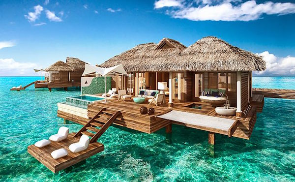 Over Water Huts