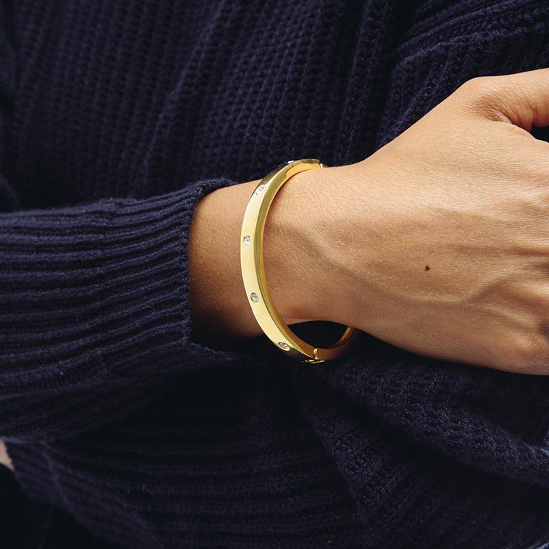 Sterling-Forever-Bracelet-Gold-Diamond-Model2