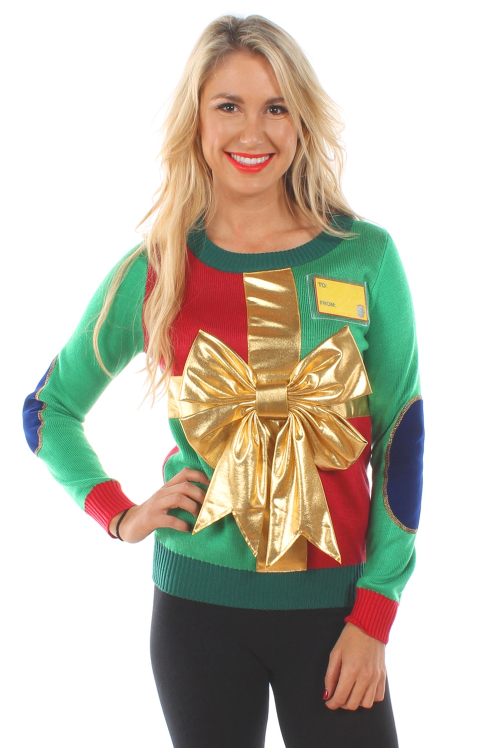 women_s_christmas_present_sweater_1 womens christmas present sweater 59 - The Best Ugly Christmas Sweaters