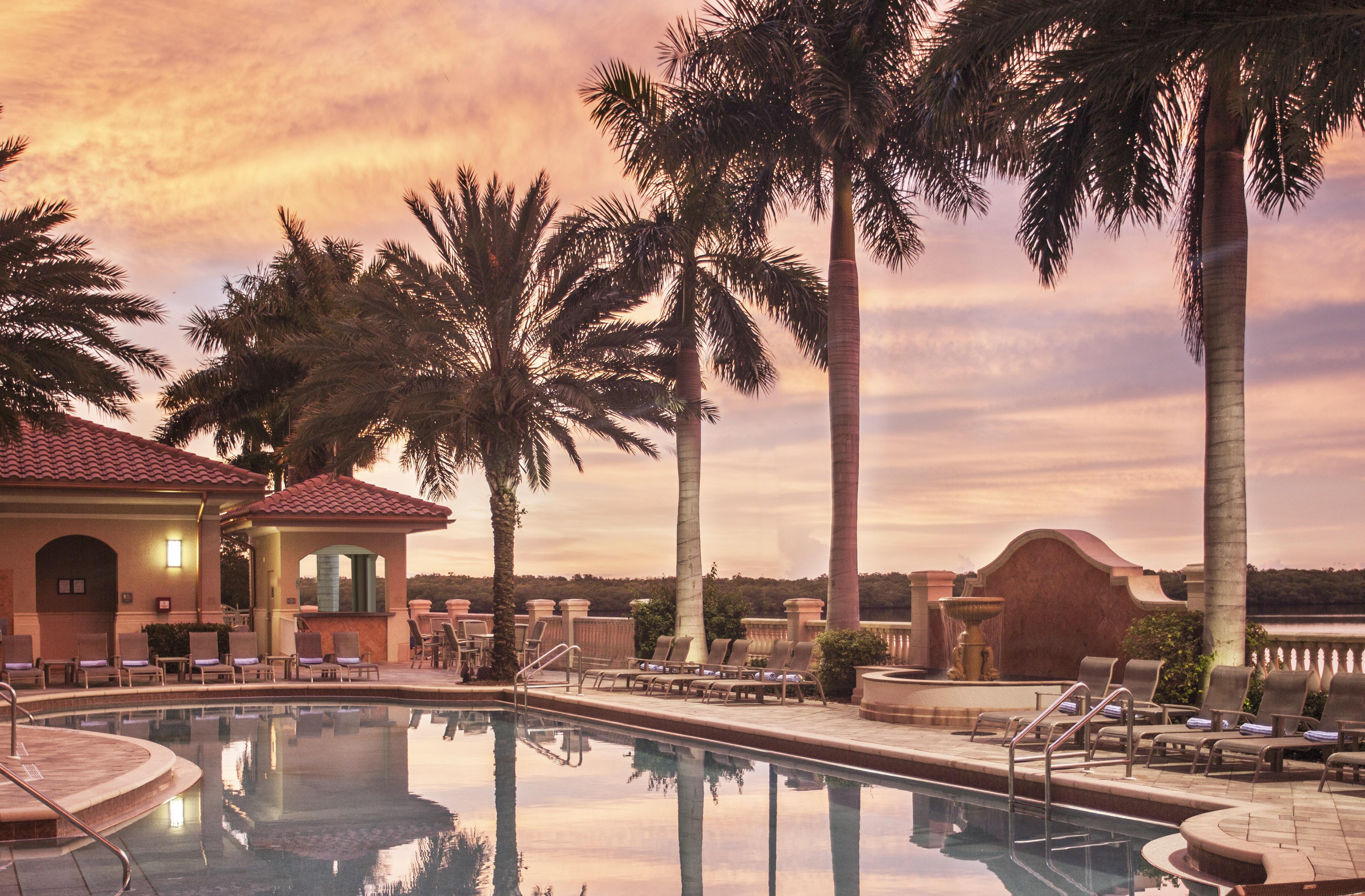 Florida - Westin Cape Coral - Pool Sunset