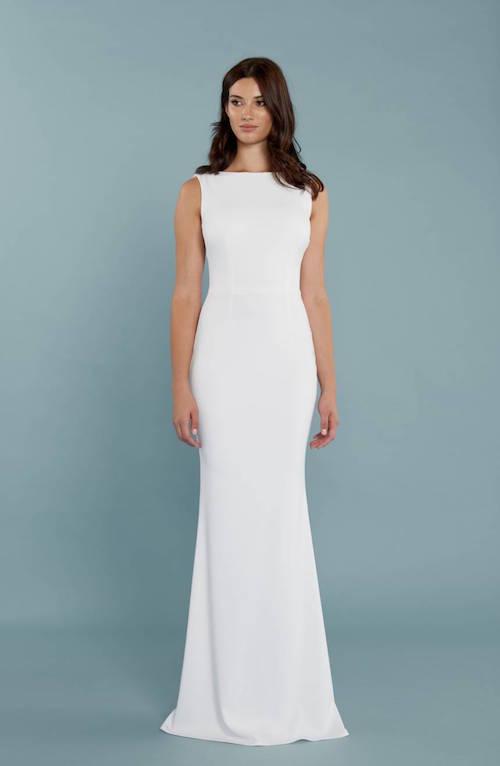 10 Elegant Wedding Gowns For The Minimalist Bride Fabfitfun