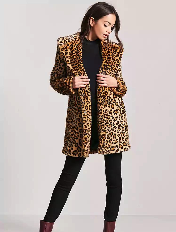 1bd22942bd92 Cheetah Print Coat Leopard Brandy Melville. Forever 21 Leopard Print Faux  Fur Cropped Jacket