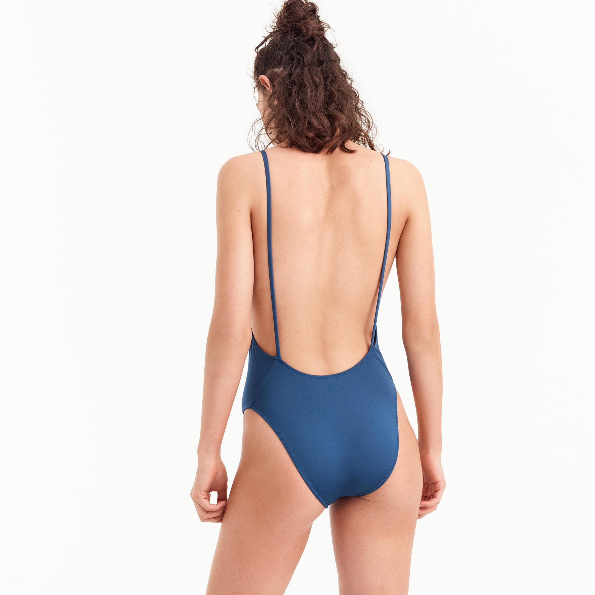 d7549a0ca5659 J.Crew Playa Newport Super-Scoopback One-Piece Swimsuit $49.50
