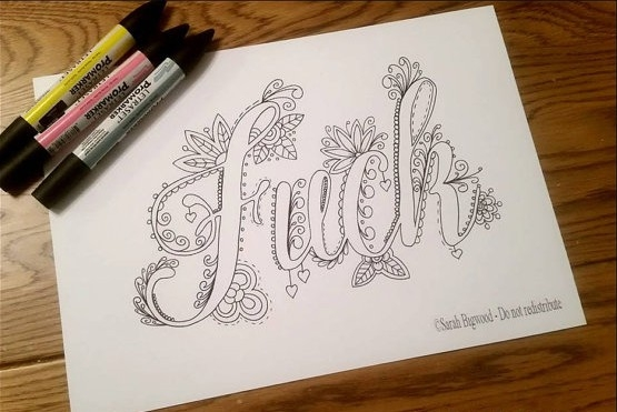 This Curse Word Coloring Book Is Amazing